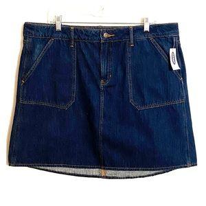 High Waisted Jean Skirt